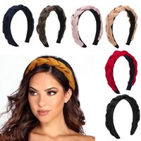Satin Cross Weaving Braid Hairbands For Women Hair Band Hoops Twisted Headband Hair Accessories Ladies Elegant Width Headwear