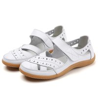 Sandals Fashion Summer Women Gladiator Ladies Hollow Casual Comfortable Soft Bottom Genuine Leather Flat Beach