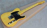 Özel Mağaza '52 Deluxe Telecaster Doğal Tele Elektro Gitar Butterscotch Sarışın Siyah Pickguard Vintage Akçaağaç Klavye Tuner Nokta Kakma