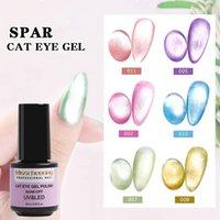 8ml glänzend 9d breite Katze Eye Nagel Gel Polnisch magnetische bunte kunst helle silberne email lack tränken off uv lack