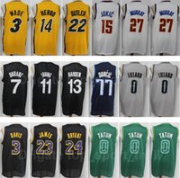 City gagné édition Basketball Damian Lillard Jersey 0 Jayson Tatum Jamal Murray 27 LeBron James Jammy Butler 22 Kyrie Irving Dwyane Wade 3