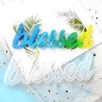 DIY Epoxy Resin Word Word Word Hola amor vivo Beato Crystal Epoxys Mold Hecho a mano Ornamento para el hogar Decoración de la oficina GWE5364