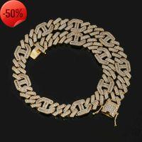 Collier de Hop Hop Hop Hop Hop de haute qualité de haute qualité AAA Zircon 3: 1 bijoux de chaîne Cuba Rizi