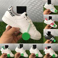 2021 Stan Smith calçados casuais masculinos zebra branca metálica prata rosa fundação preta universidade vermelha verde tênis masculino feminino