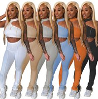 sweatshirt sport 9457 Piece Set Womens Tracksuits outfits sleeveless pantsuits sportswear jogging sportsuit shirt pants suits Summer Sexy tw