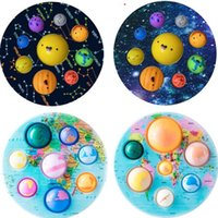 Eight Planets Kids Fidget Toys Push Keychain Early Educational Sensory Toy Bubble Set Autism Anxiety Fidget Toy For Kids
