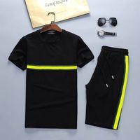 Summer Sport Men Tracksuits Camisetas + Calças Corridas Calções Conjuntos de Roupas Juntos de Esportes Treinamento Ginásio Fitness Ternos