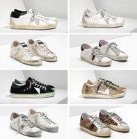 Italienische Freizeitschuhe Sneakers Korb Super Star # Paillettenstar Classic White Distressed Dirty Schuhe # Designer 35-45 Plus Box