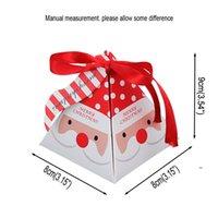 Cadeau Cadeau Christmas Candy Chocolate Paper Boxes Party Enfant Emballage Arbre Pendentif Décoration Cuisson Petit paquet Mignon FWD8555