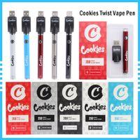 Cookies Twired аккумулятор SF SLIM 350 мАч Нижние 3.3-4.8 В догрей VV Картридж Калифорния Vape Pen для 510 Тележки