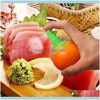 Cocina de verduras, Comedor Bar Home Gardenwholesale 2 unids / Set Limón Pulverizador Fresco Fruit Citrus Spray Naranja Cocina Herramientas Jugo Squz