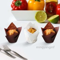 200 Pcs Tulip Cupcake Liners, Premium Greaseproof Paper Baking Cups, Muffin Liners for Wedding, Baby Showers, Party CC0487