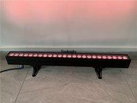 4pcs DMX 24x10w RGBW 4in1 실내 조명 LED 벽 세탁기 1M LED 벽 세차 바 선형 홍수 빛