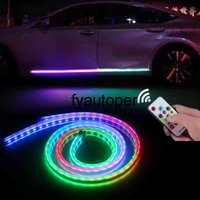 Decoration Flexible Strip Light Remote Control Accessories Car LED Door Lights Automobiles Flexible Door Lamp 12V 150CM