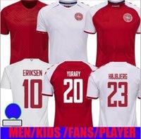 2020 Danimarca Jersey Soccer Jersey Eriksen 2021 Schmeichel Kjaer Christensen Skov Delaney Braithwaite DBU Casa Away 3rd Dalsgaard Lossl Seria di Gurstary T-shirt da calcio