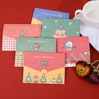 Sobre de papel de Navidad de la tarjeta de Navidad de la tarjeta de Navidad con la tarjeta del mensaje Tarjeta de felicitación del regalo estacionario NHB10489