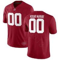 Profissional personalizado jerseys ncaa alabama carmesim maré faculdade jersey jersey logotipo qualquer número e nome todas as cores homens futebol jersey a0
