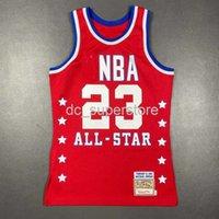 100% genäht Michael Mitchell Ness 1989 All Star Jersey Herren Herren XS-5XL 6XL Hemd Basketball Trikots Retro NCAA