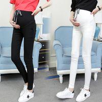 Grossesse Pantalon abdominal Casual Jeans Pantalons de maternité pour femmes enceintes Vêtements High Taille Pantalons Lâche Denim jeans 563 Y2