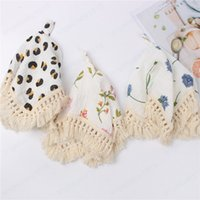 Baby Towels Newborn Cotton Robes Infant Leopard Print Tassel Towel Kids Printed Soothing Towels
