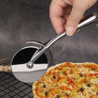 Beyaz Nikel Kaplama Çinko Alaşım Pizza Tekerlekler Araçları Dayanıklı Kek Ekmek Bezi Yuvarlak Bölücü Bıçak Pasta Makarna Hamur Pişirme Kesme Aracı NHF7358