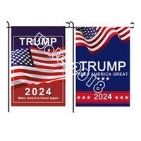 Trump 2024 Flagge make Amerika toll wieder Republikanische USA-Flaggen Anti Bidingen Nie Americas Präsident Donald Lustige Gartenkampagnen-Banner 12 * 18 Zoll