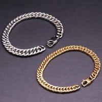 Link, Chain Fashion Women Men Titanium Steel T Birthday As Gift Women's Men's Hoop Circle Metallic Bangle Bracelet Charm