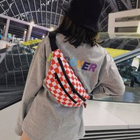 HBP 3 색 2021 나일론 격자 무늬 여성 Fanny 팩 벨트 가방 고용량 바나나 허리 팩 여성 편리한 가슴 가방 어깨 크로스 바디