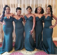 Mermaid Sweetheart Bridesmaid Dresses African Girls Wedding Guest Maid of Honor Gowns Custom Made Plus Size Available 2021