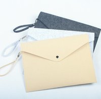 Feltro File File Cartella Documenti Busta Office Valigetta Documento Borsa Carta Portfolio Caso lettera Busta-A4 Cartelle Forniture SN5618