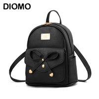 가방 Diomo 여성용 미니 배낭 고급 PU 가죽 카와이 귀여운 우아한 바그 팩 소녀를위한 소형 학교