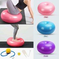 Sfera della palla di yoga della mela 50 x 30 cm con set di pompa Pilate Bilanciamento del bilanciamento delle palle Massaggio Allenamento domestico Esercizio