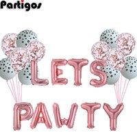 1 компл. 16 '' Boil-of Balloons Симпатичные буквы Давайте Pawty Party Balloon Decor Balloon для любимчиков собак Кошки День рождения Декортировка Поставки Y0923