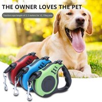 Dog Collars & Leashes 300CM 500CM Automatic Tractor Retractable Pet Walking Lead Leash Extending Traction Rope