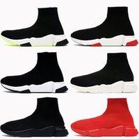 2021 Paris Männer Casual Socke Schuhe Plattform Triple Rot Schwarz Weiß Grün Royal Fashion Luxus Herren Turnschuhe Frauen Trainer US 6-12