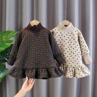 Девушка платья Euerdodo 2021 осень зима девушки платья хлопок теплые толстовки печати с длинным рукавом принцесса повседневная детская одежда