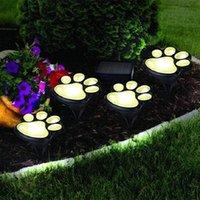 Solarlampen Licht 4 stücke LED Katze Tierdruck Garten Dekoration Outdoor Girlande Footprint