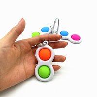 2 3 공 키 체인 푸시 버블 fidget 감각 장난감 열쇠 고리 자폐증 특별 요구 스트레스 reliever 간단한 열쇠 고리 펜던트 HH31KP48