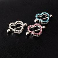 D0985 (5 ألوان) لطيفة حجر القلب نمط الحلمة حلقة ثقب المجوهرات 20 قطع الوردي اللون ستون قطرة ثقب الجسم مجوهرات الشحن 531 T2