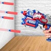 Bambini morbidi pallottole a mano pull pistola giocattolo può fuoco giocattoli giocattoli armatore in movimento in movimento che spara continuo sucker morbido pallottolo pistola giocattolo giocattolo