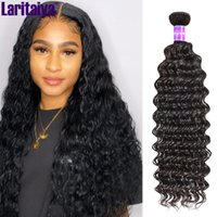 Human Hair Bulks Laritaiya Deep Wave Bundles 100% Virgin Brazilian Extensions 1 2 3 4 Curly Deals