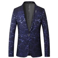 Men's Suits & Blazers Groom Wedding 2021 Blazer Single Button Men Slim Fit Printed Fashion Suit Jackets Terno Masculino Big Size M-5XL