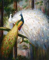 Djur påfågel phoenix topp oljemålning hemvägg dekor hög kvalitet handmålat eller HD-utskriftskonst på duk bilder, F210329