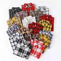 Fashion Women Plaid Shirt Chic Checked Blouse Long Sleeve Female Casual Print Shirts Loose Cotton Tops Blusas Spring News