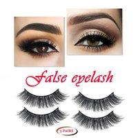 Herramientas de extensión de belleza de maquillaje 3/2 pares Pestañas falsas pestañas falsas Hechas a mano con pinzas