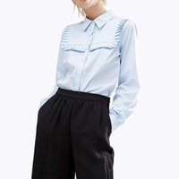 Avrupa ve Amerikan Seksi kadın Gömlek Yaka Uzun Kollu Baz Gömlek Kadın Desigen Bluz Boyutu S-2XL