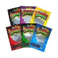500mg Dank Gummies Mylar Bags Zip Lock Edibles 소매 포장 웜 곰 사탕 거미 가방 마른 허브 담배 꽃을위한 냄새