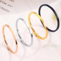 European and American Couple Rings ultra-fine smooth titanium steel simple pure color Designer Ring