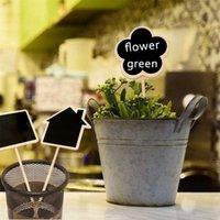 Etiquetas de la planta Marcador Forma linda Inserción de la tarjeta Mini Blackboard Woodiness Arts and Crafts Originalidad Dominio de la casa Flor de mariposa 2093 V2