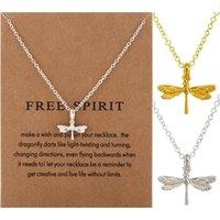 Libellule Collier Dragonfly Pendentif Collier Collierbone Chaîne